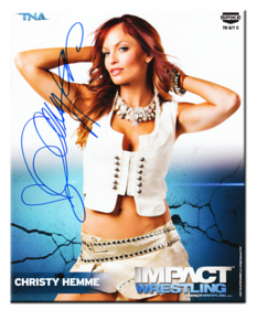 Christy Hemme Autographed P-537 TNA IMPACT WRESTLING Promo Photo