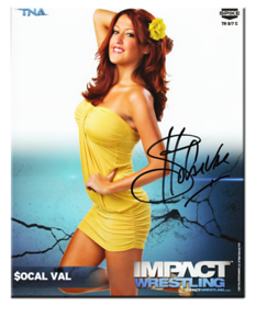 Socal Val Autographed P-52 TNA IMPACT WRESTLING Promo Photo