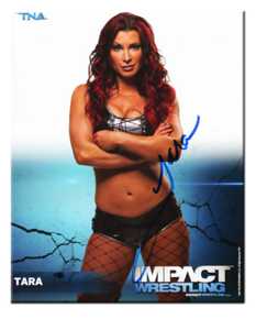 Tara Autographed P-55 TNA IMPACT WRESTLING Promo Photo