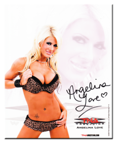 Angelina Love Autographed 14-A TNA Wrestling Promo Photo
