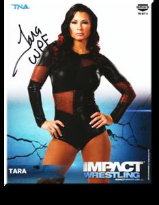 Tara Autographed P-239 TNA IMPACT WRESTLING Promo Photo