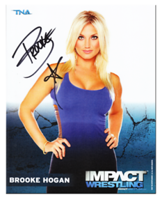 Brooke Hogan Autographed 2011 TNA IMPACT WRESTLING Promo Photo