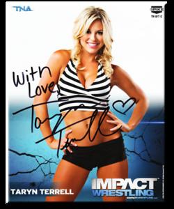 Taryn Terrell Autographed P-140 TNA IMPACT WRESTLING Promo Photo