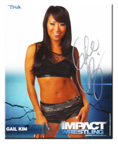 Gail Kim Autographed P-82 TNA IMPACT WRESTLING Promo Photo