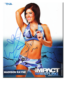 Madison Rayne Autographed P-30B TNA IMPACT WRESTLING Promo Photo