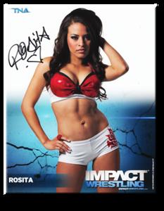 Rosita Autographed P-47 TNA IMPACT WRESTLING Promo Photo