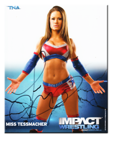 Miss Tessmacher Autographed P-125 TNA IMPACT WRESTLING Promo Photo