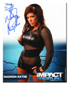 Madison Rayne Autographed P-30A TNA IMPACT WRESTLING Promo Photo