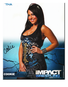 Cookie Autographed P-11 TNA IMPACT WRESTLING Promo Photo