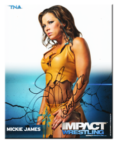 Mickie James Autographed P-36 TNA IMPACT WRESTLING Promo Photo