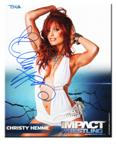 Christy Hemme Autographed P-10 TNA IMPACT WRESTLING Promo Photo