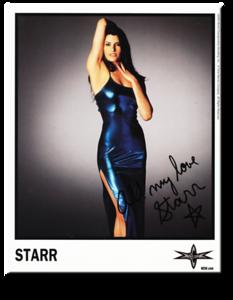 Starr Autographed Color 2000 WCW Promo Photo