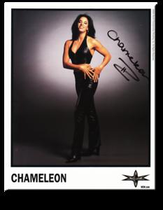 Chameleon Autographed Color 2000 WCW Promo Photo
