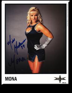Mona aka Molly Holly Autographed Color 2000 WCW Promo Photo