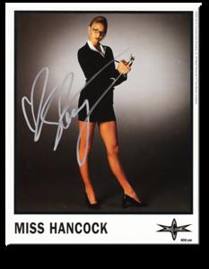 Miss Hancock Autographed Color 2000 WCW Promo Photo