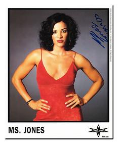 Ms. Jones Autographed Color 2000 WCW Promo Photo