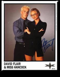 David Flair & Miss Hancock Autographed Color 2000 WCW Promo Photo