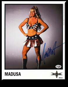 Madusa Autographed Color 2000 WCW Promo Photo