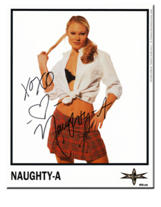 Naughty-A Autographed Color 2001 WCW Promo Photo