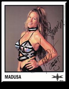 Madusa Autographed Color 1999 WCW Promo Photo