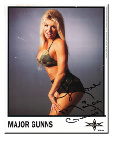 Major Gunns aka Tylene Buck Autographed Color 2000 WCW Promo Photo