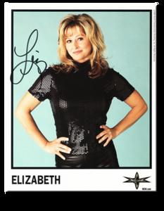 Elizabeth Autographed Color 1999 WCW Promo Photo