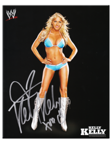 Kelly Kelly Autographed WWE 2008 Promo Photo