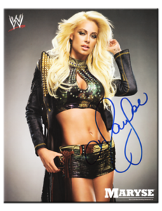 Maryse Autographed WWE 2009 Promo Photo