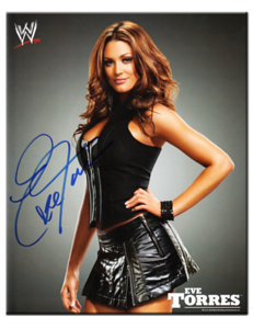 Eve Torres Autographed 2009 WWE Promo Photo