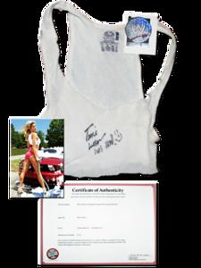 Torrie Wilson Autographed WWE Summerslam Car Wash Tank Top