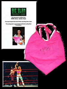 Jackie Gayda Autographed WWE Ring Worn Pink Top