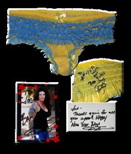 ODB Autographed TNA Wrestling Ring Worn Panties