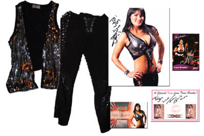 Traci Brooks Autographed TNA Wrestling Ring Worn Outfit