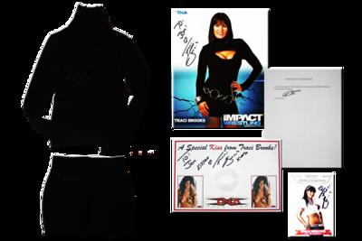Traci Brooks Autographed TNA Wrestling Photoshoot Worn Dress