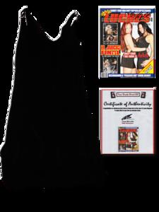 Traci Brooks Autographed Ring Worn Black Dress