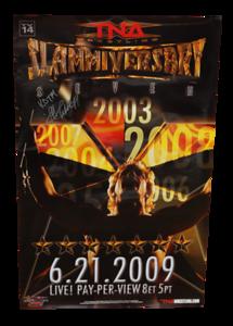 Jeff Jarrett Autographed TNA Slammiversary 2009 PPV Poster
