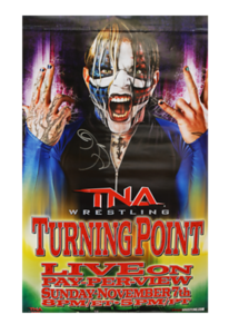 Jeff Hardy Autographed TNA 2010 Turning Point PPV Poster