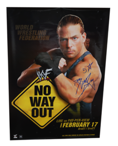 Rob Van Dam Autographed WWF No Way Out 2002 PPV Poster