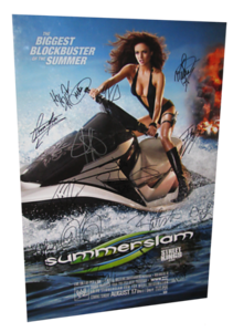 Autographed WWE Summerslam 2008 PPV Poster