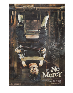 Jeff Hardy Autographed WWE No Mercy 2008 PPV Poster