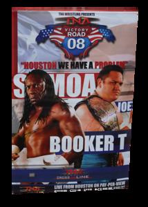 Booker T & Samoa Joe Autographed TNA Victory Road 2008 PPV Poster