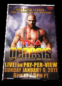 Kurt Angle Autographed TNA Genesis 2011 PPV Poster