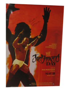 Booker T Autographed WWE Judgment Day 2003 PPV Poster