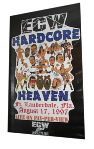 Autographed ECW Hardcore Heaven 1997 PPV Poster