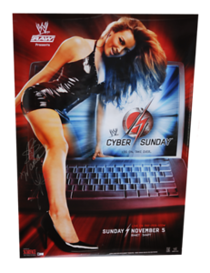 Maria Kanellis Autographed WWE Cyber Sunday 2006 PPV Poster