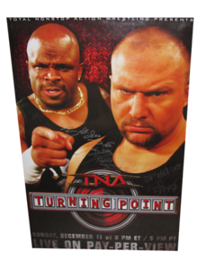 Dudley Boys (Bubba Ray & D-Von Dudley) Autographed TNA Turning Point 2005 PPV Poster