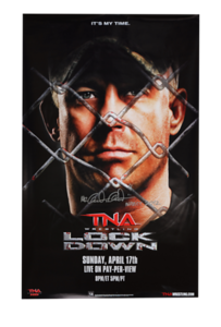 Ken Anderson Autographed TNA Lock Down 2011 PPV Poster