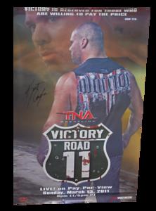 Kurt Angle Autographed TNA Victory Road 2011 PPV Poster