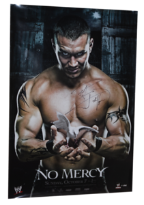 Randy Orton Autographed WWE No Mercy 2007 PPV Poster