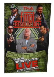 Kazarian, James Storm & Bobby Roode Autographed TNA Final Resolution 2010 PPV Poster